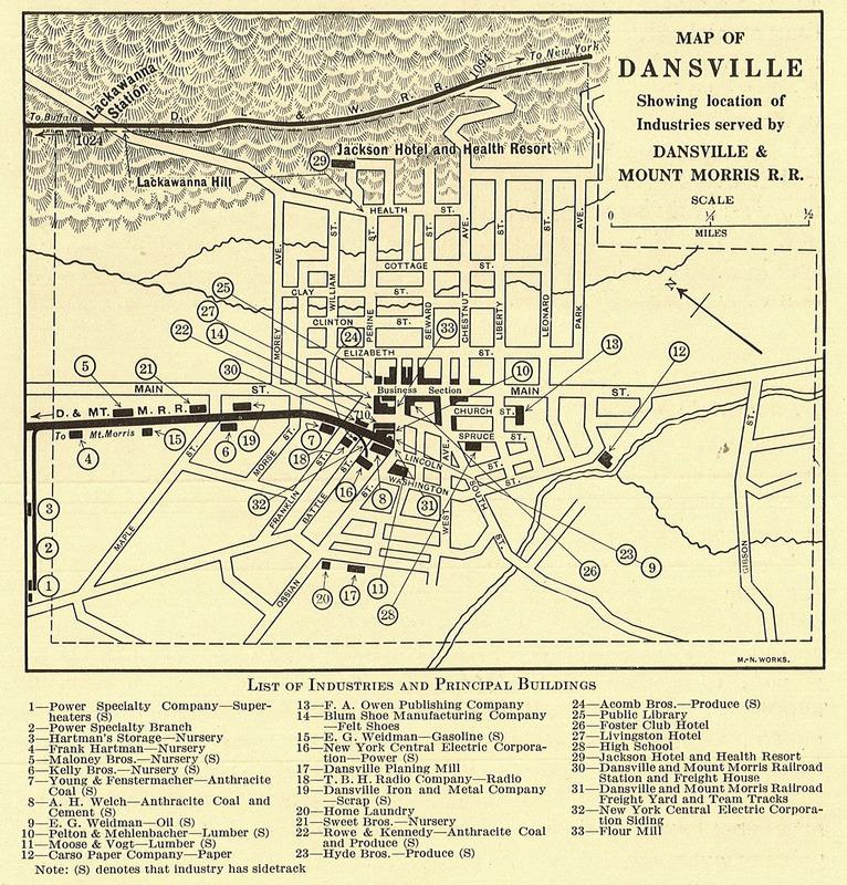 Map of Dansville Industries