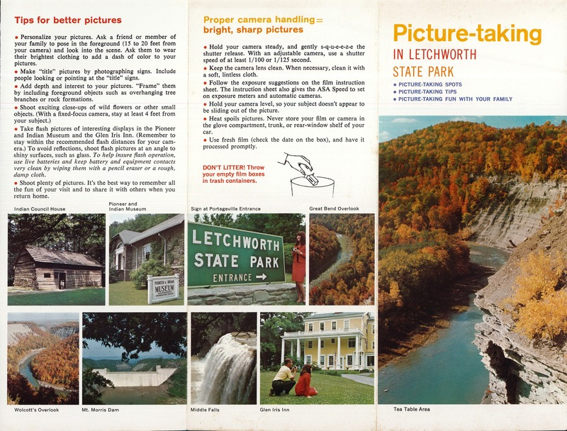 Picture-taking in Letchworth State Park