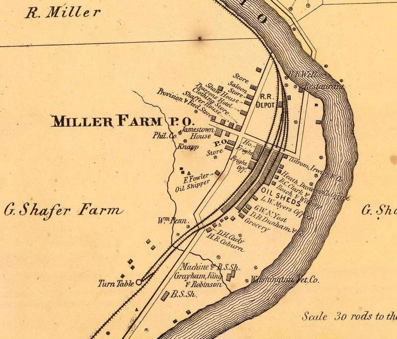 Shaffer Farm on Oil Creek, PA, 1865