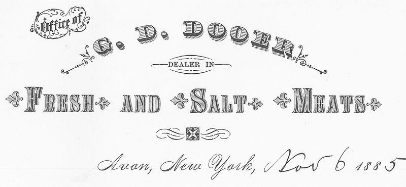 G. D. Dooer Letterhead