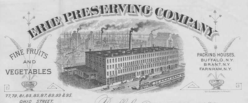 Erie Preserving Company, Buffalo NY
