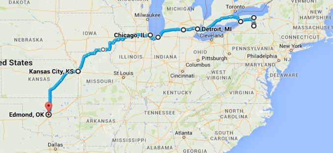 Sheffield Peabody's Travels to Oklahoma