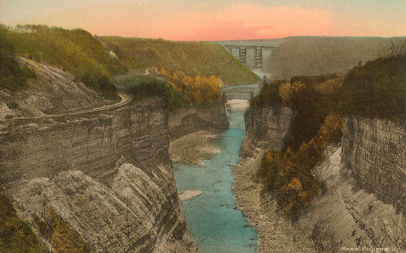 Portage Bridge from Inspiration Point, Letchworth State Park, N.Y.