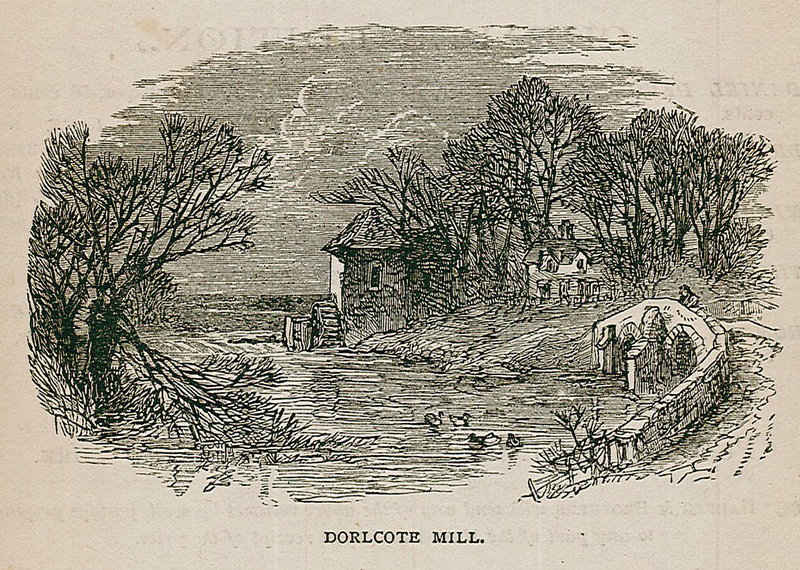 "Dorlcote Mill, as envisioned for an edition of George Eliot's ""The Mill on the Floss"""