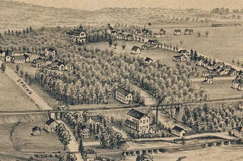 Bird's-Eye View of Caledonia, NY, 1892