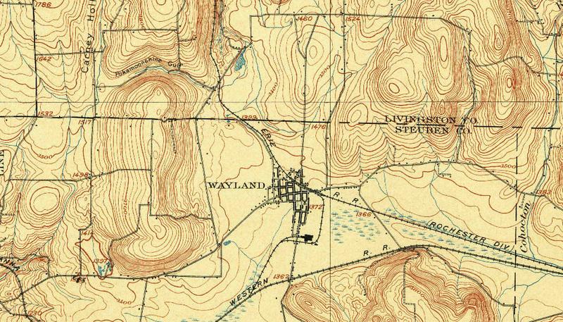 Topo Map of Wayland, NY (1904)