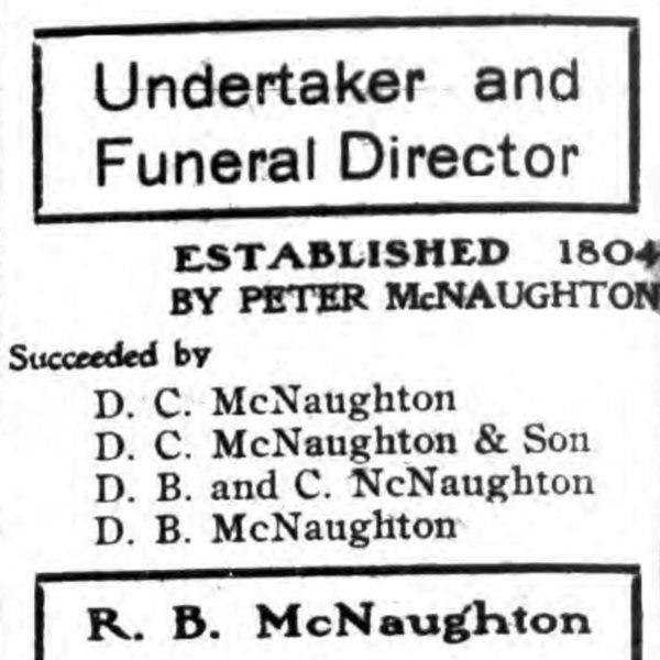 D.B. McNaughton, Furniture & Undertaking