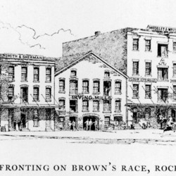 Flour mills along Brown's Race, Rochester, N.Y., in 1880