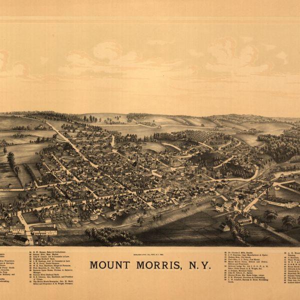 Bird's-eye view of Mt. Morris, N.Y.