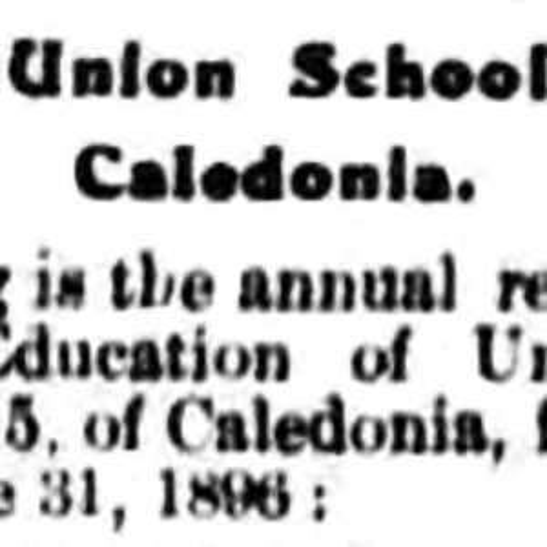 Caledonia School No. 5
