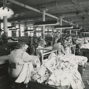 Women Sewing at the Perry Knitting Company