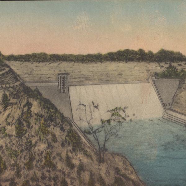 Postcard Mount Morris Dam Letchworth State Park, Western New York