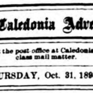 Caledonia Advertiser, A.H. Collins, Prop.