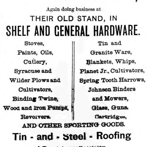 Walker & Wilkinson, General Hardware