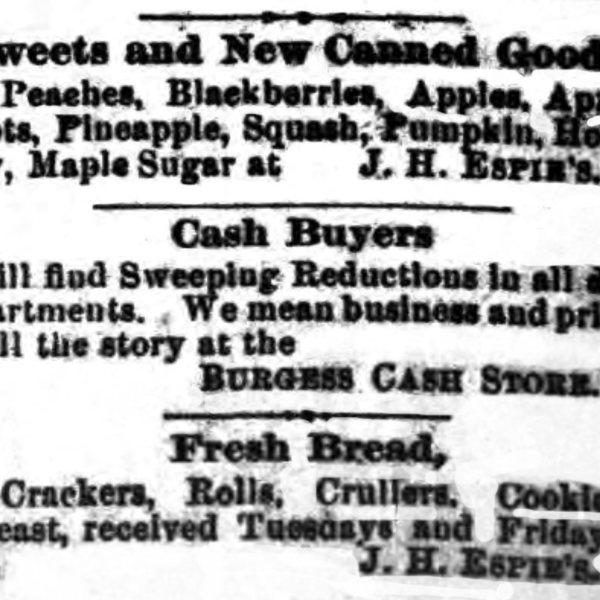 J.H. Espie, Groceries & Crockery