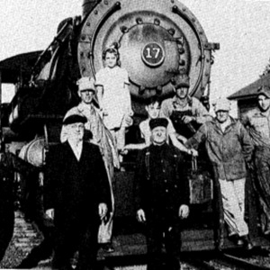Photograph of men at the Genesee Wyoming Railroad