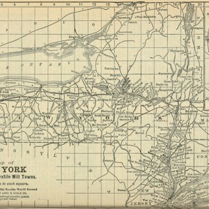 Map of New York Textile Mills, 1913