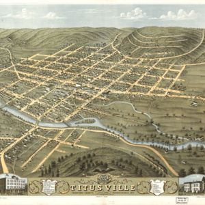 Bird's-eye view of Titusville, PA