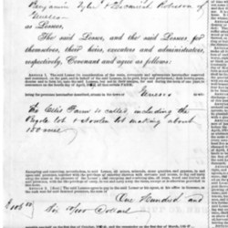 1849 lease for Ellis Farm (Wadsworth property), Geneseo, N.Y., showing wheat rent